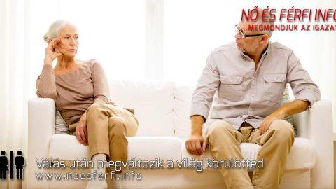 Válás után megváltozik a világ körülötted